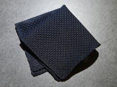 【Garza】 Garza Pocket Square (Dark Navy)