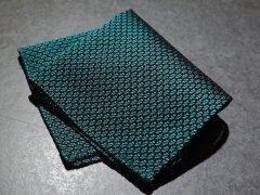 【Garza】 Garza Pocket Square (Dark Green)