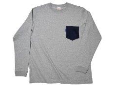 【THE TANGO】 フレスコ チェンジポケット /  グレーロングTシャツ