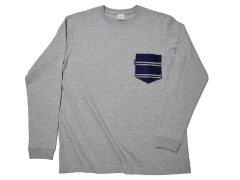 【THE TANGO】 2ラインレジメンタル チェンジポケット /  グレーロングTシャツ