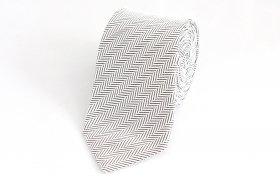 Herring bone Tie(ホワイトグレー)