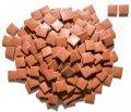 レトロモザイクタイル 20角 コントラストブラウン バラ