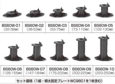 ウッドデッキ用基礎部材・BSW60