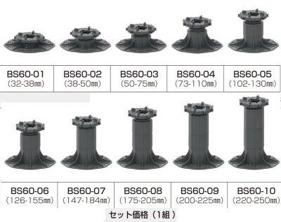 厚物セラミックタイル用基礎部材・BS60
