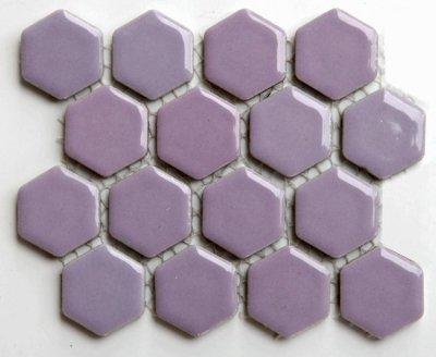 ヘキサゴン(六角)モザイク 602B バラ