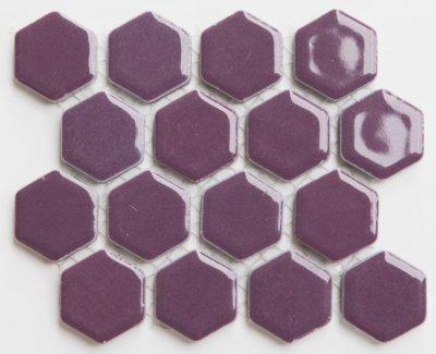 ヘキサゴン(六角)モザイク 602C バラ
