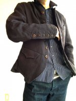 french worquera jacket 1770 black/DjangoAtour ANOTHERLINE
