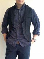 victorians linen waistcoat black/DjangoAtour ANOTHERLINE