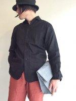 ポストマンフレンチリネンシャツ ブラックpostman frenchlinen shirt black/DjangoAtour