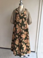 親子くまジャンパースカート緑 98年冬 W84FA03/WONDERFULWORLD/ワンダフルワールド