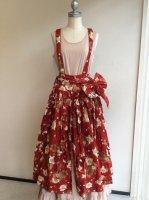 マーガレットくま吊りスカート赤 W52FS05/WONDERFULWORLD ワンダフルワールド