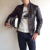 1960-1970's Leather Rider's jacket Dark Brown(1960〜1970年代アメリカ製レザーライダースジャケット)