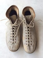 1950's Dirty Leather Bowling Shose Grey(1950年代アメリカ製レザーボーリングシューズ)