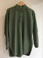 1970's Swedish Military Pullover Shirt Khaki(1970年代スウェーデン軍プルオーバーシャツ)