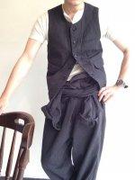 ワーカーズベストソルト&ペッパーストライプ workers vest salt and pepper stripe/DjangoAtour