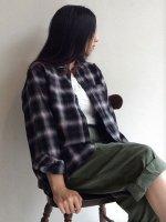 チェックイージーシャツ check easy shirt color-G(グレー系)/DjangoAtour
