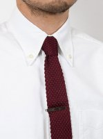 ���륯�˥åȥ��� �С�����ǥ� Silk Knit Tie,Burgundy��Workers