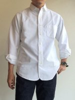 ナローカラーシャツ ホワイトOX Narrow Collar Shirt, White OX/Workers