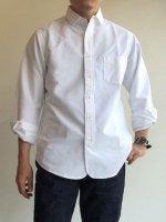 ナローカラーシャツ ホワイトOX Narrow Collar Shirt, White OX/Workers