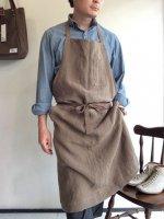 フレンチワークリネンエプロン モカ frenchwork linen apron mochaフリーサイズ/DjangoAtour