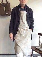 【完売・生産終了】フレンチワークリネンエプロン エクリュ frenchwork linen apron ecruフリーサイズ/DjangoAtour