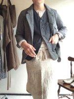 ベーカーズリネンエプロン エクリュ bakers linen apron ecruフリーサイズ/DjangoAtour