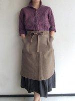 ベーカーズリネンエプロン モカ bakers linen apron mocha フリーサイズ/DjangoAtour