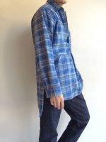 1950's French Work Shirt 2Blue(1950年代 フランス ワークシャツ)
