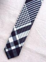 ハンドテーラードタイ インディゴチェック Hand Tailored Tie,Indogo Check/Workers