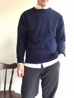 �������˥å� ���åȥ󥻡����� �ͥ��ӡ� Organic Cotton Sweater Navy��Workers<img class='new_mark_img2' src='http://mamechico.jp/img/new/icons3.gif' style='border:none;display:inline;margin:0px;padding:0px;width:auto;' />