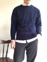 オーガニック コットンセーター ネイビー Organic Cotton Sweater Navy/Workers