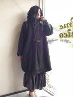 メルトン フーディー バルーンコート melton hoodie coat/Yarmo