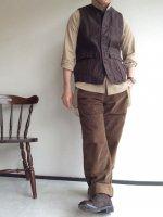 フレンチファーマーズパンツ(メンズM) french farmers pants 硫化brown/DjangoAtour