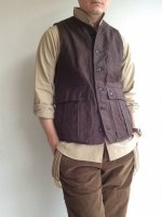 ���饷�å��ե����ϥ󥿡��٥��� �֥饦�� classic french hunter vest brown��DjangoAtour<img class='new_mark_img2' src='//img.shop-pro.jp/img/new/icons3.gif' style='border:none;display:inline;margin:0px;padding:0px;width:auto;' />