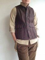 クラシックフレンチハンターベスト ブラウン classic french hunter vest brown/DjangoAtour