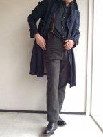 ヴィクトリアンズウールメルトントラウザー モカブラウン(メンズM) victorians wool-melton trousers/DjangoAtour【AL】