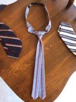 ヴィクトリアンズナロータイA  victorians tie (band teck tie)wisteria stripe/DjangoAtour
