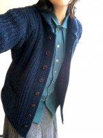 クラシックショールカラーアウターニットネイビー(メンズS)classic shawlcollar outerknit navy/DjangoAtour ANOTHERLINE