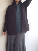 クラシックショールカラーアウターニットアンバー classic shawlcollar outerknit umber/DjangoAtour ANOTHERLINE