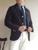 ネイビーブレザー Blazer, Navy Supima Karsey, Knit Twill/Workers