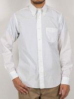ライトボタンダウンシャツブロードクロス ホワイト Light BD, GIZA 126/2 Broadcloth, White/Workers