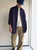 オフィサーシャツ ネイビー Officer shirt navy/Yarmo