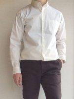 DAラウンドカラーボタンダウンシャツ(ホワイト) DA roundcollar b.d. shirt white/DjangoAtour