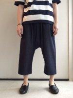 イージークォーターパンツ インディゴ Easy Quarter Pants Indigo(フリーサイズ)/Yarmo
