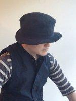 シュバリエリネンハット ブラック chevalier linen hat Black/DjangoAtour