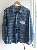 1980年代フランス製ミシュランのスタッフシャツ/1980's French Work Uniform Shirt Blue