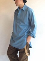 1960年代スウェーデン軍スリーピングシャツ/1960's Dead Stock Swedish Military Sleeping Shirt Saxe Blue