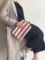 ツイードポーチ 赤×白(Sサイズ)FOLDER PETIT TWEED/NOMAD