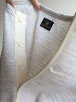 フレンチヘンリージャガードTシャツ 杢ホワイト frenchhenley jacquard tee mokuwhite(メンズL)/DjangoAtour