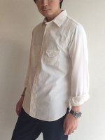 シガレットポケットシャツ ホワイトシャンブレー/Workers